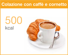 colazione caffe cornetto calorie