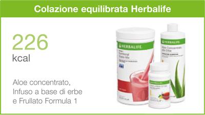colazione equilibrata herbalife calorie
