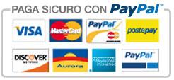 Pagamento sicuro con Paypal, Carta di Credito
